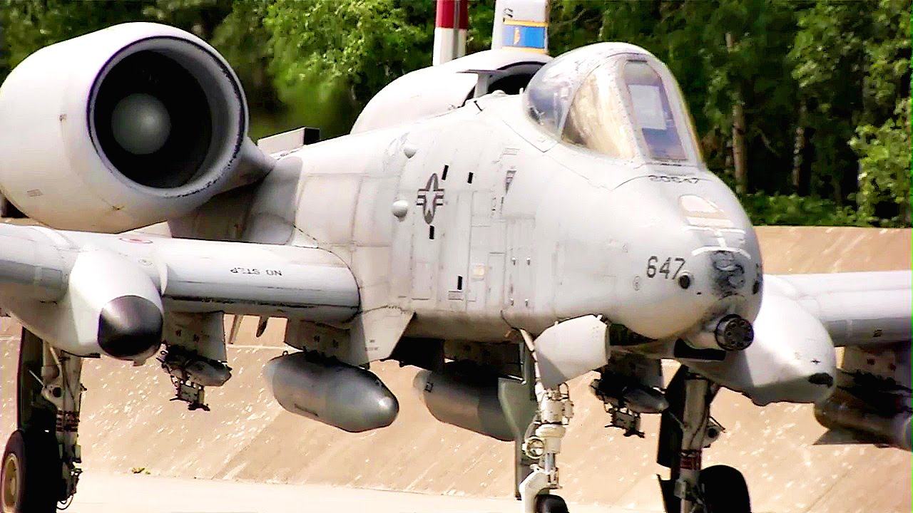 "America's Toughest Warplane: A-10 'Warthog"" Aircraft At Lask Air Base, Poland"