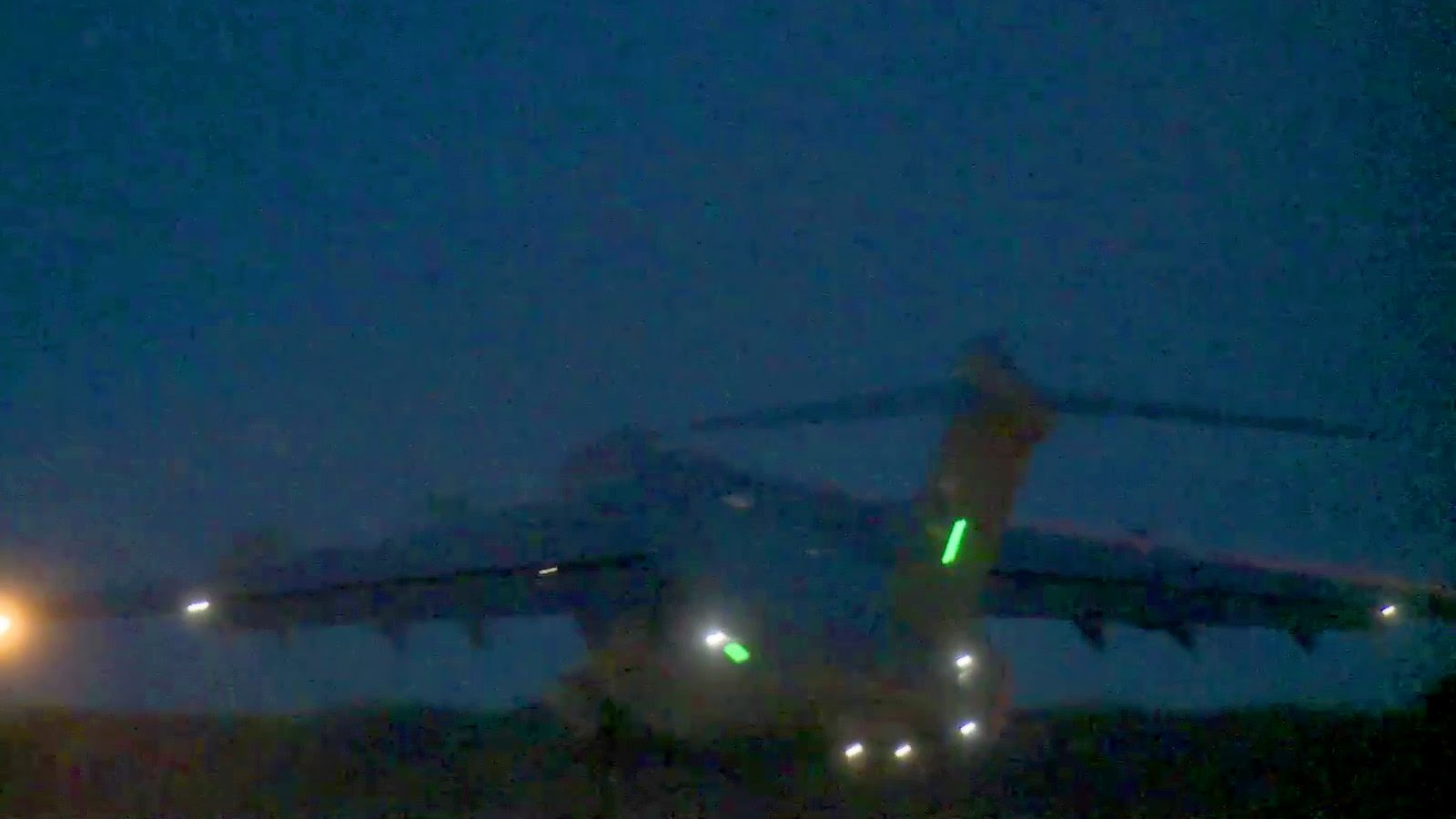 C-17 Night Takeoff