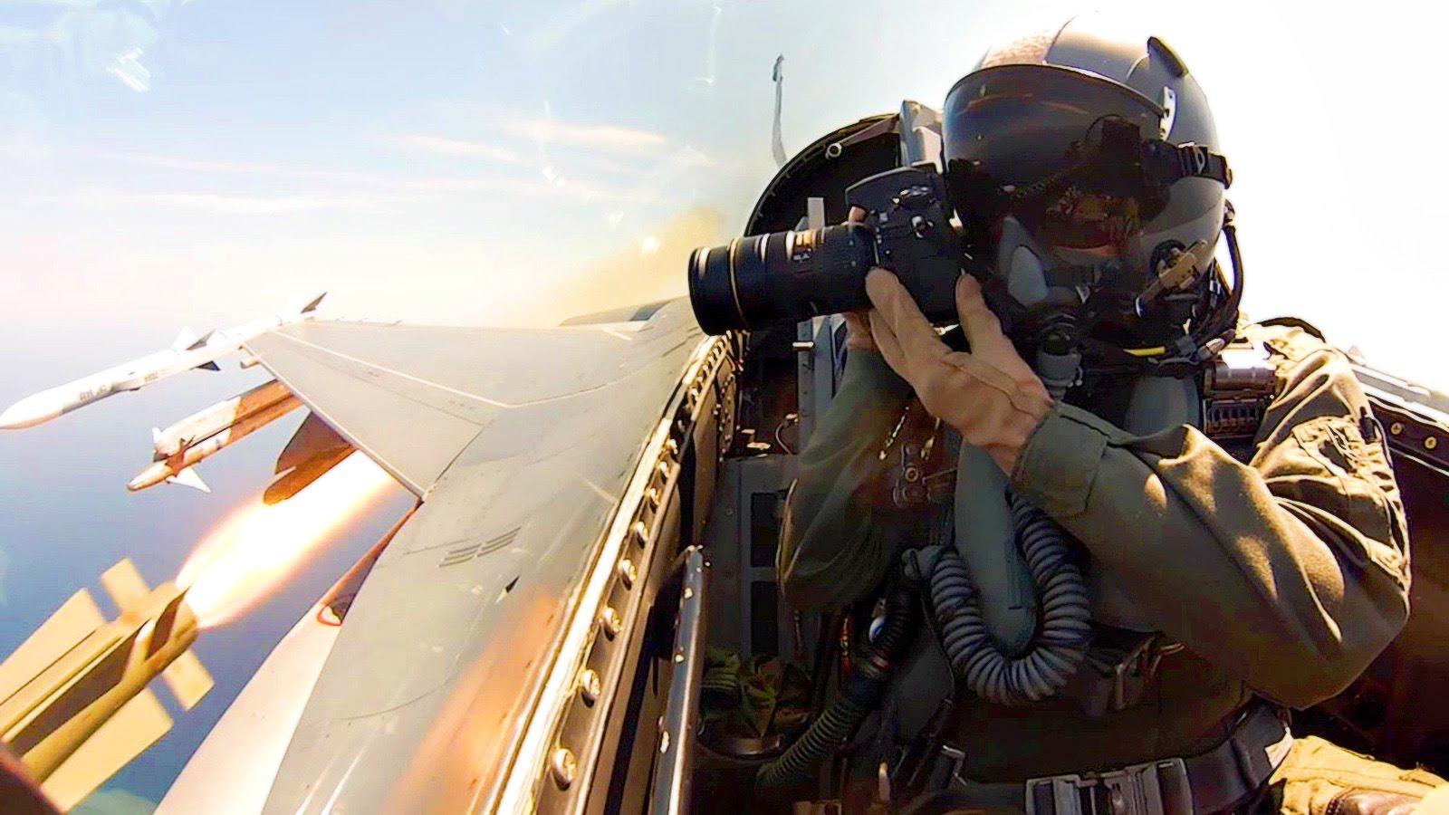F-16CM Cockpit Aerial Footage