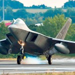 F-22 Raptors Landing At Spangdahlem Air Base, Germany