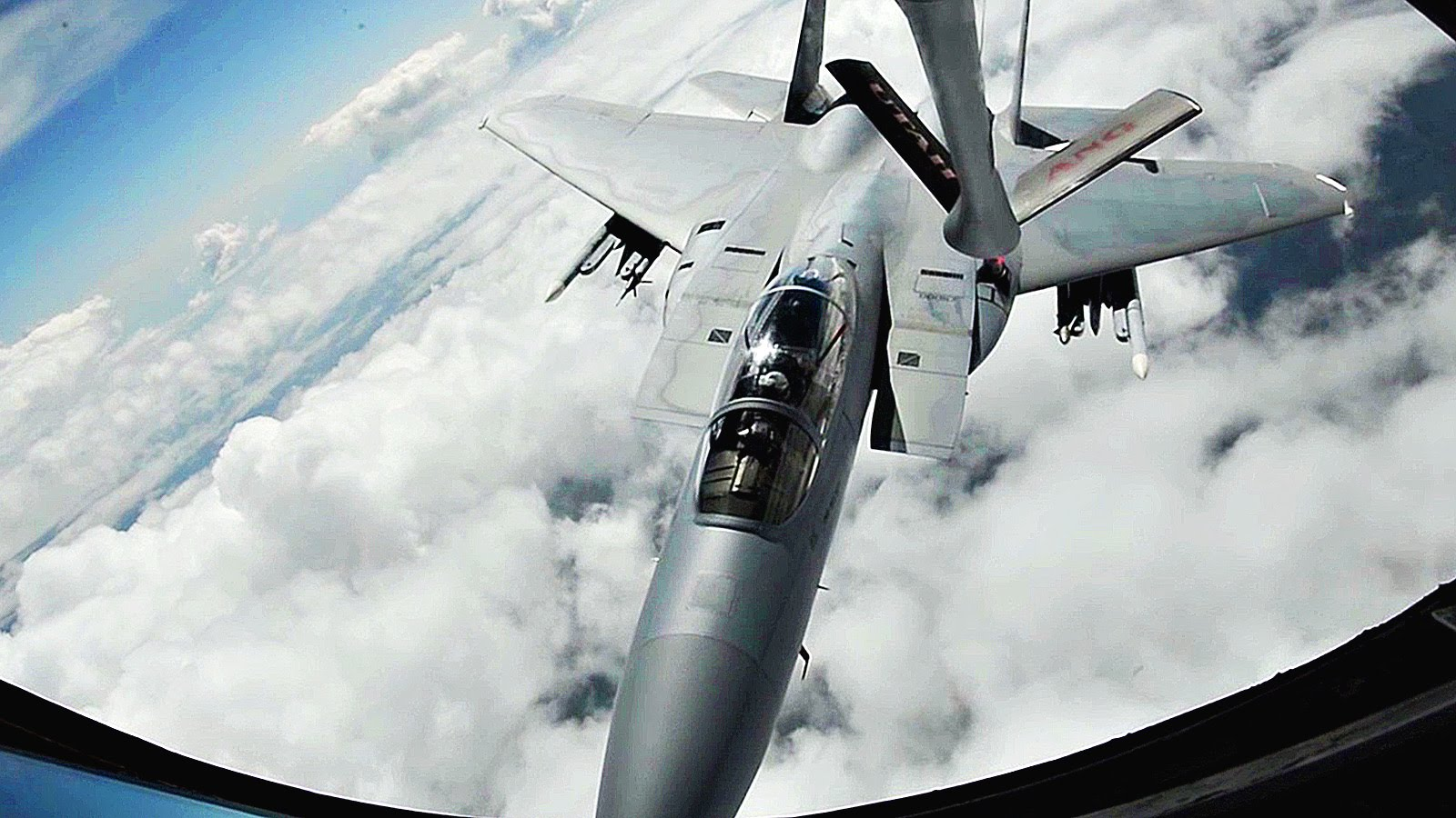 Gas Station In The Sky: Stratotanker Air Refuels F-15 Eagles