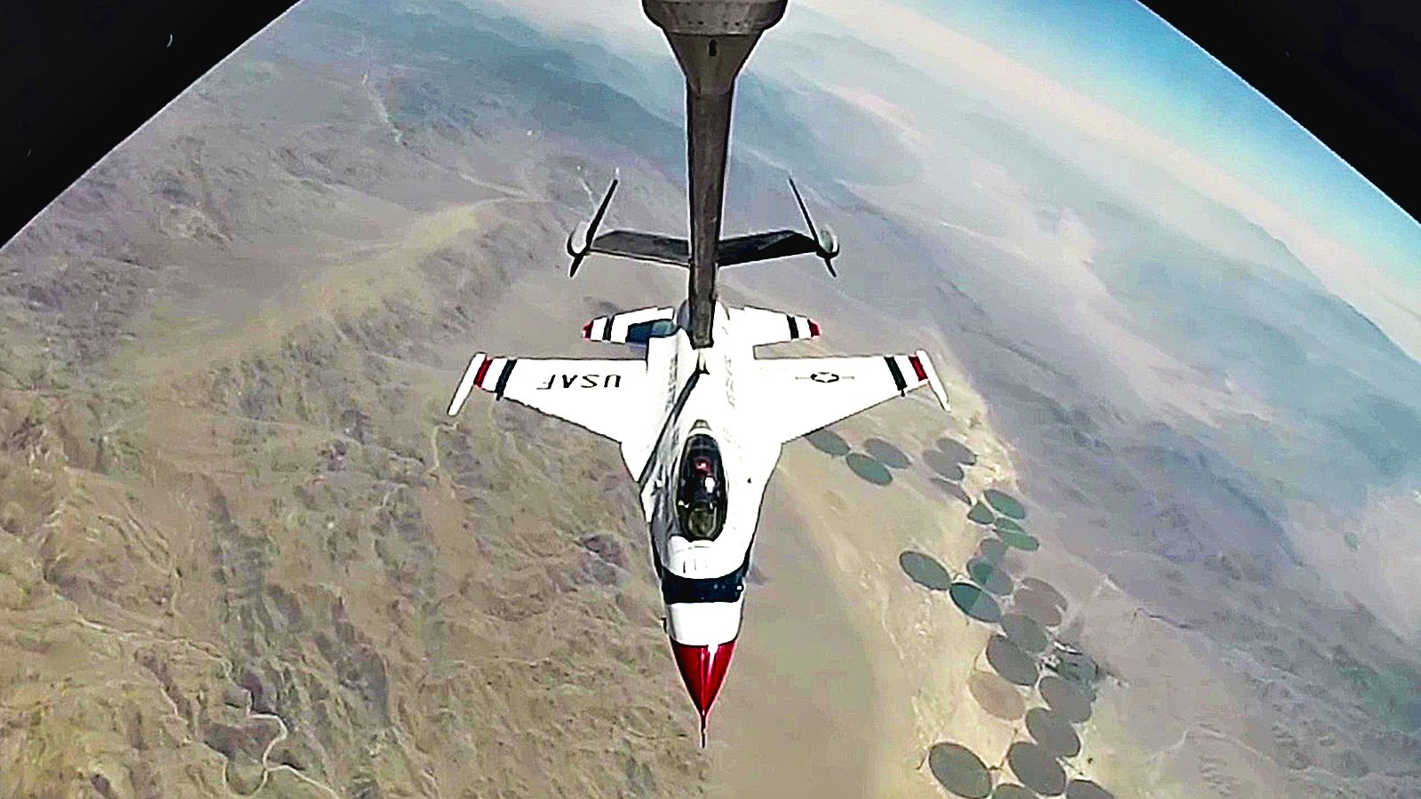 KC-10 Air Refuels USAF Thunderbirds Over Nevada