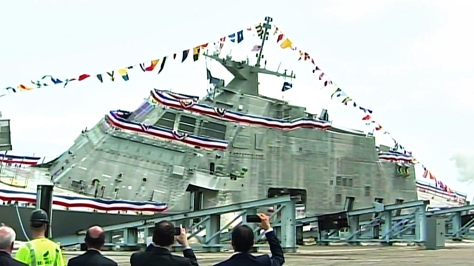 Launching of the Navy's Newest Littoral Combat Ship USS Little Rock