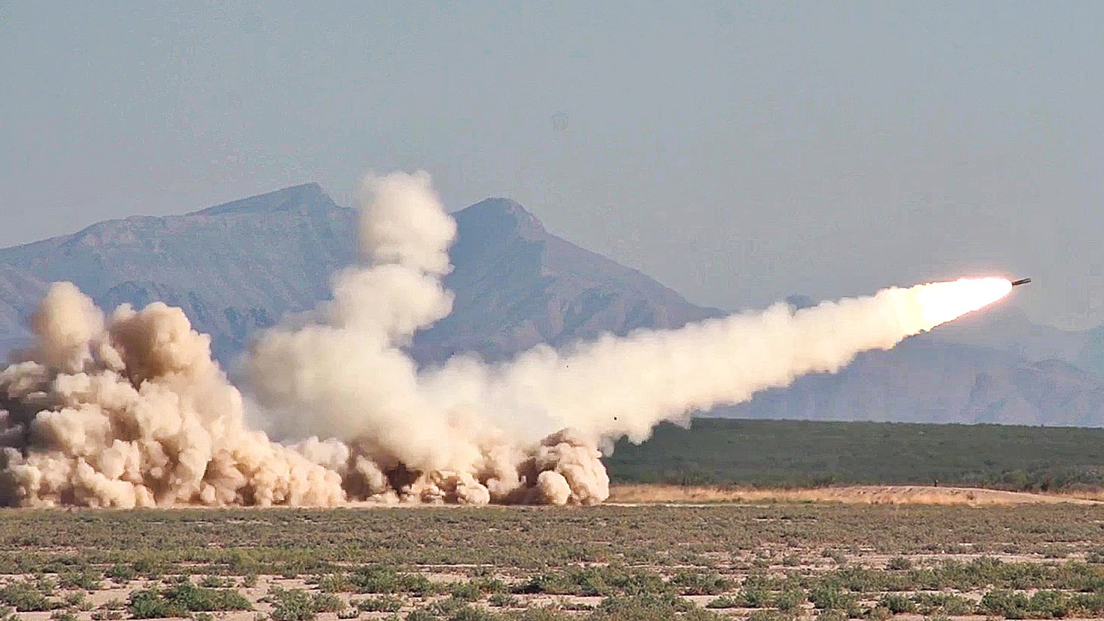 M270A1 Multiple Launch Rocket System (MLRS) Test Fire