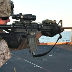 Marines Combat Marksmanship Range On The Flight Deck