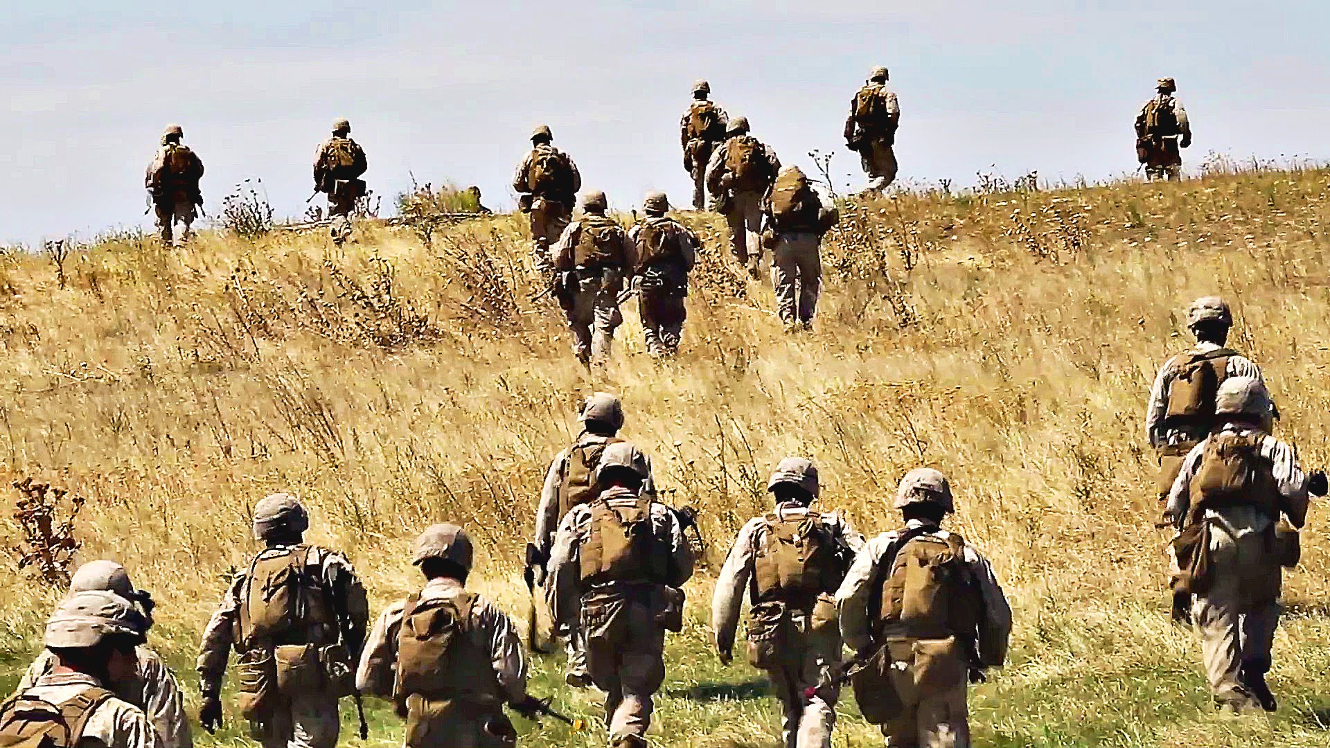 Marines Conduct Defensive Maneuvers During Exercise