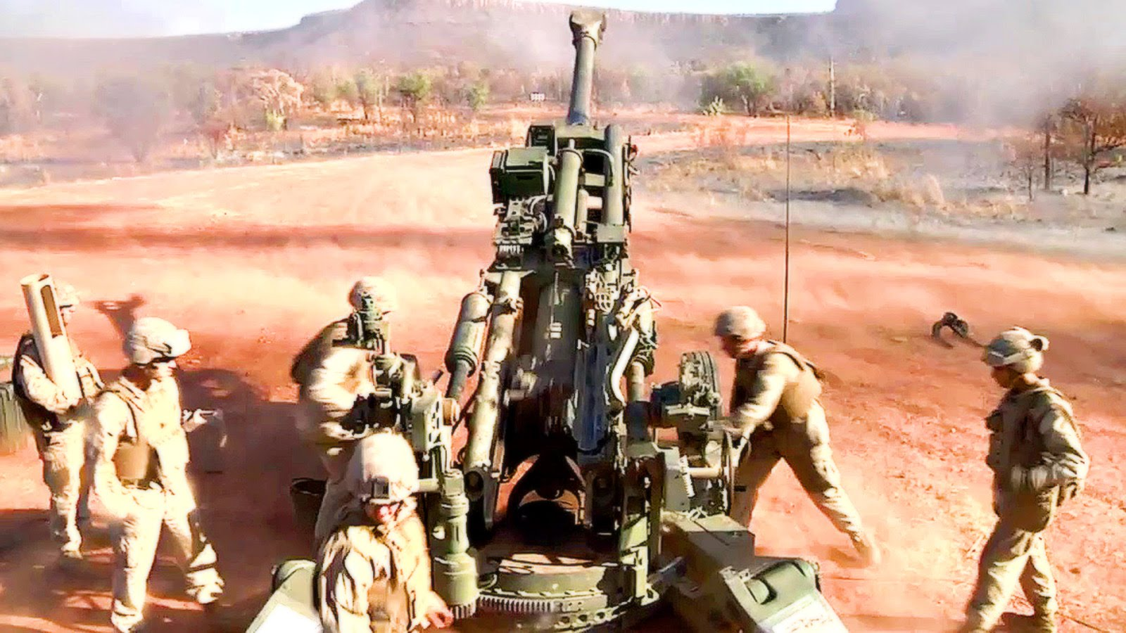 Marines Send Artillery Rounds Downrange