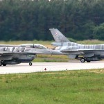 Polish Air Force F-16 Flexes Its Muscles – Takeoffs @  Łask Air Base