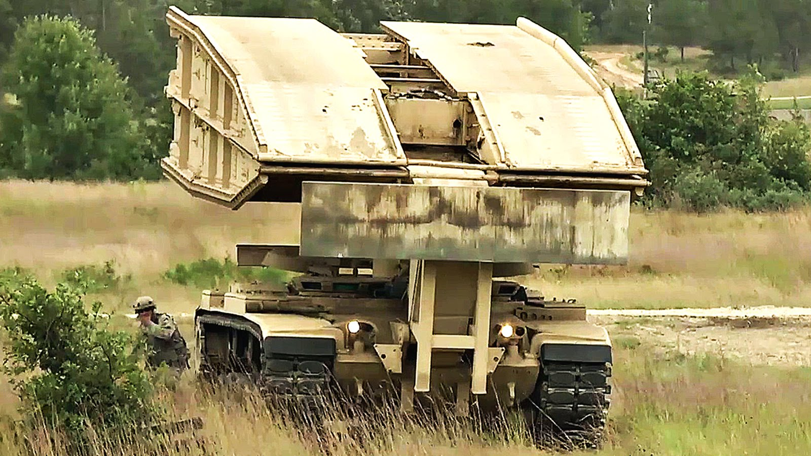 The Amazing Real Life Tank/Bridge Transformer: M60 AVLB