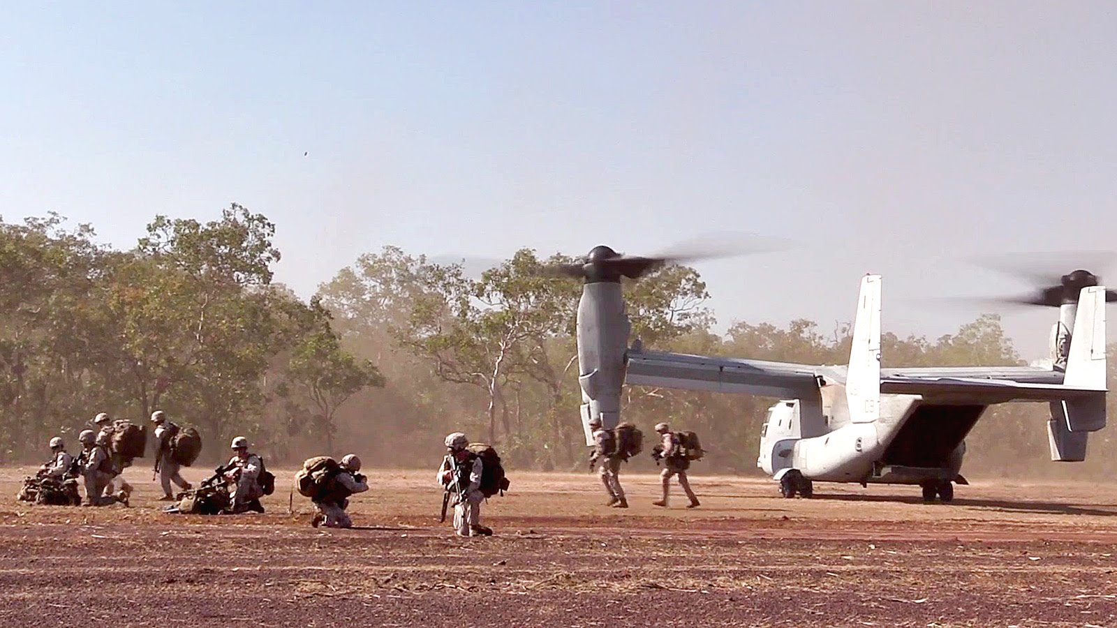 U.S. Marine & Aussie Army – CV-22 Tactical Aerial Insertion