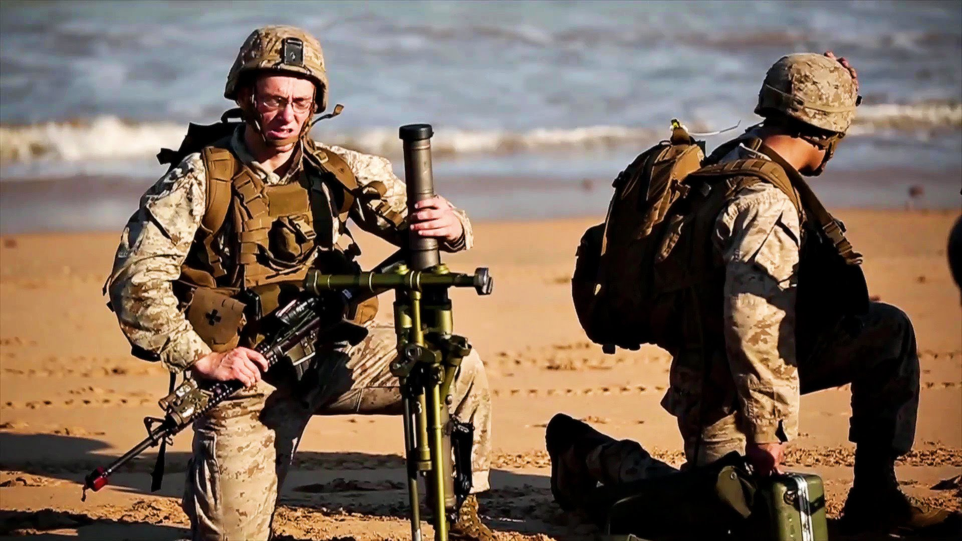 U.S. Marines & Australian Army Beachfront Assault