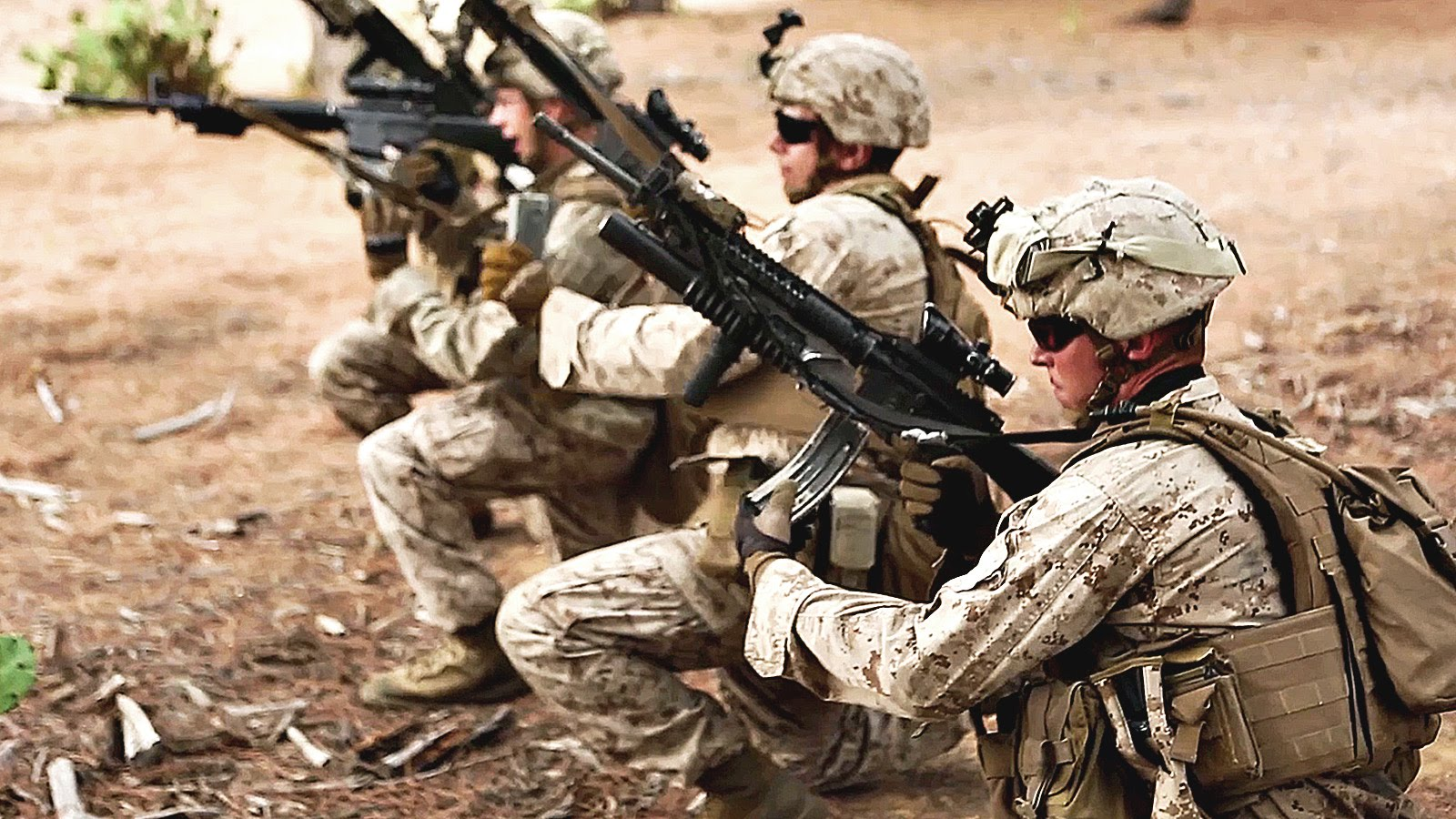 U.S. Marines Infantrymen Training