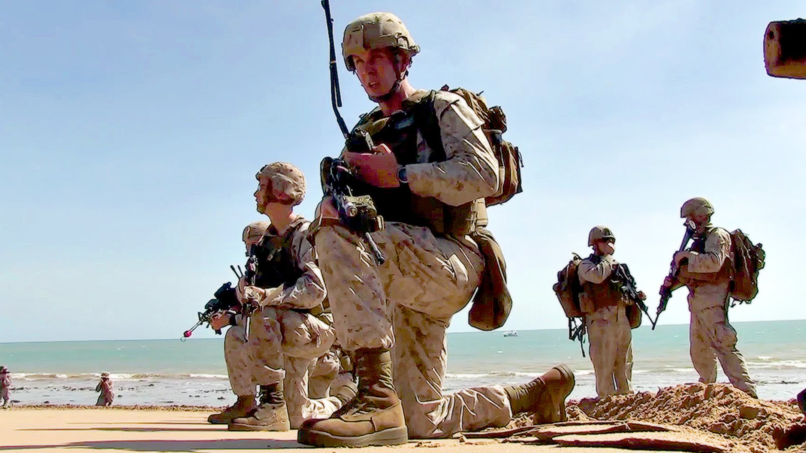 US Marines Takes The Beach