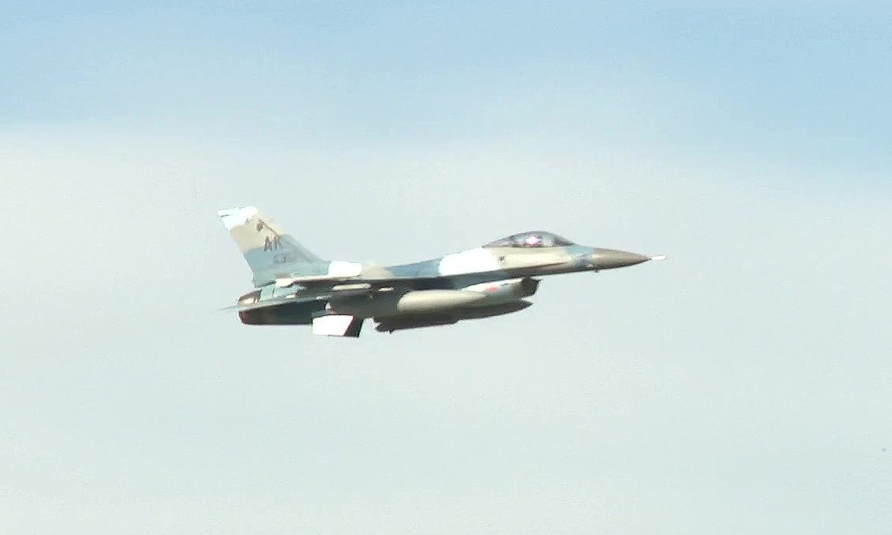 USAF F-16 Aggressors Takeoff In Alaska | AIIRSOURCE