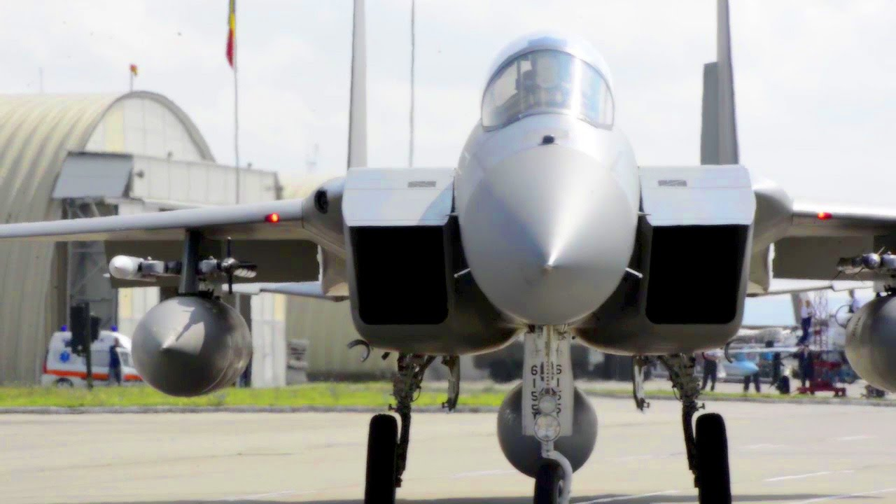 F-15C Eagles Preflight/Takeoff From Romania