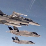 First Combat-coded F-35A Lightning II Fighters & F-16 Flying Side-by-side