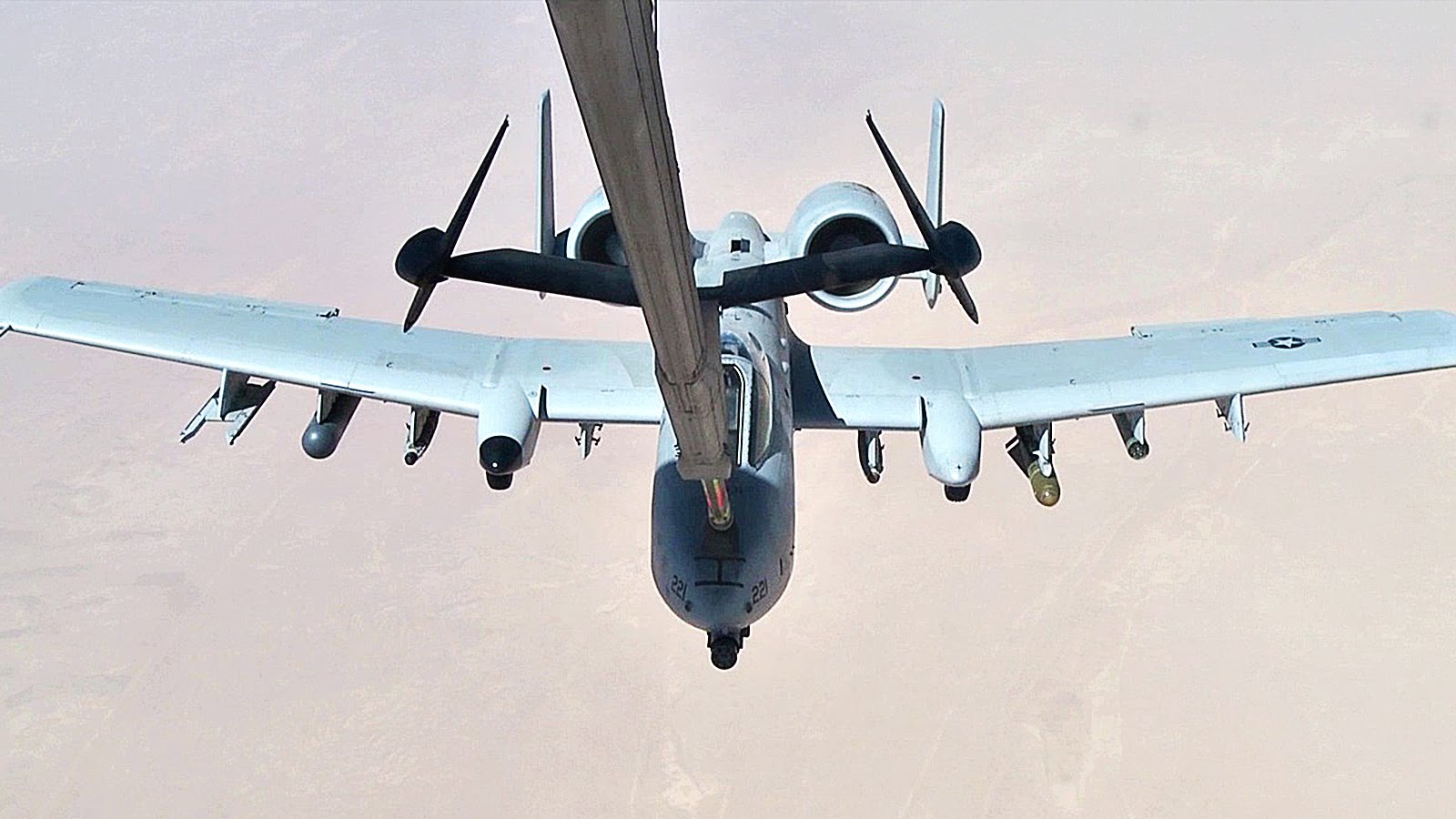 KC-10 Tanker Air Refueling A-10 Warthogs Over Southwest Asia