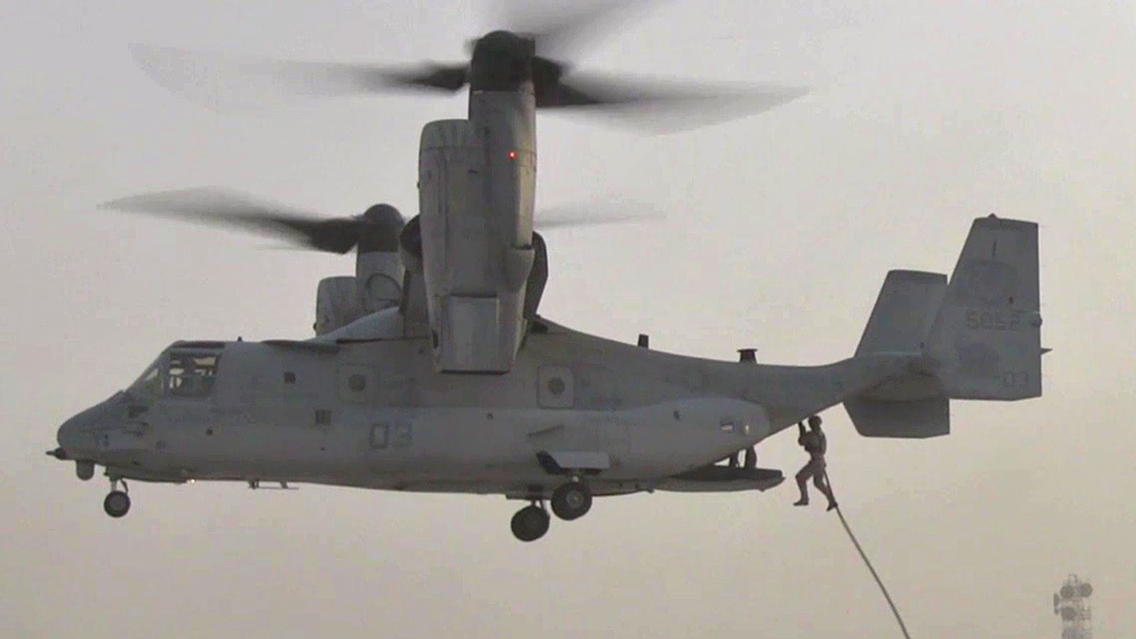 Marines Are Awesome – Fast Rope From MV-22