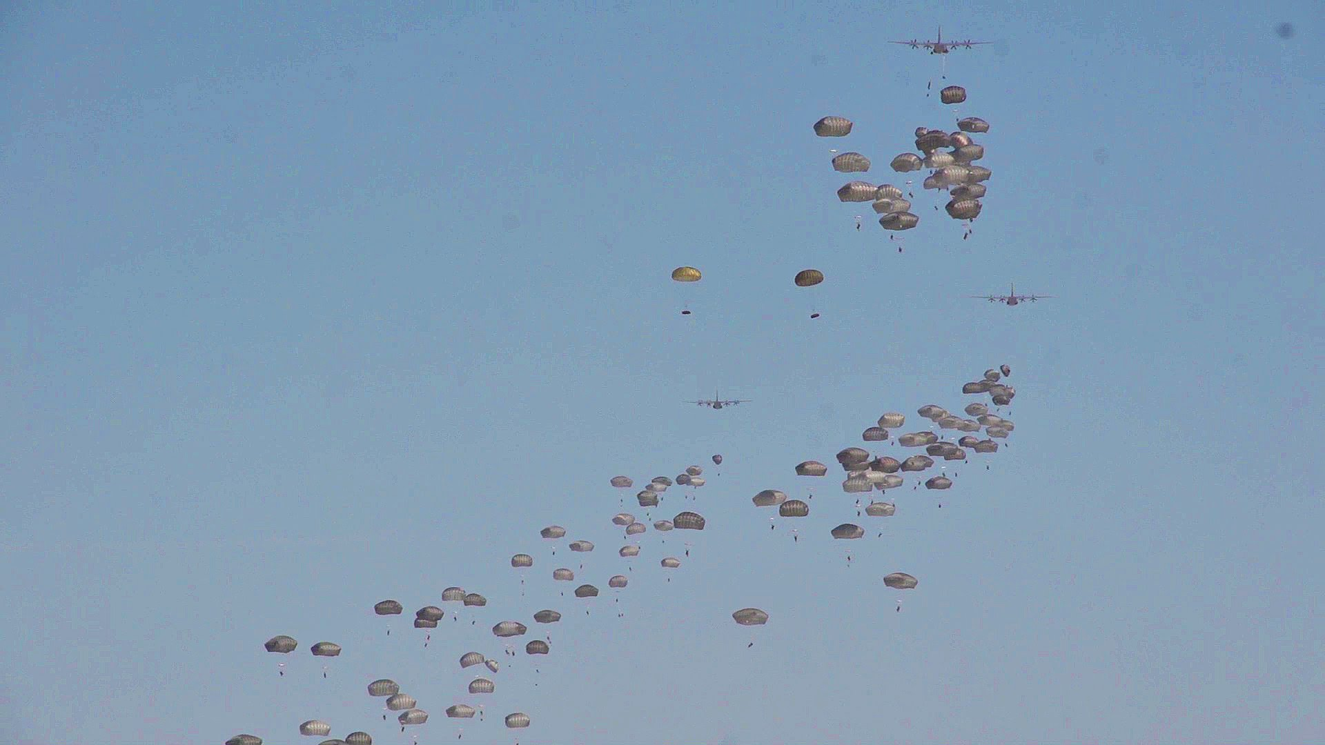 Raining Paratroopers