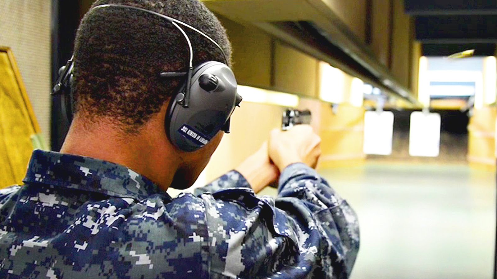 U.S. Navy Sailors Shooting Beretta M9 Pistol