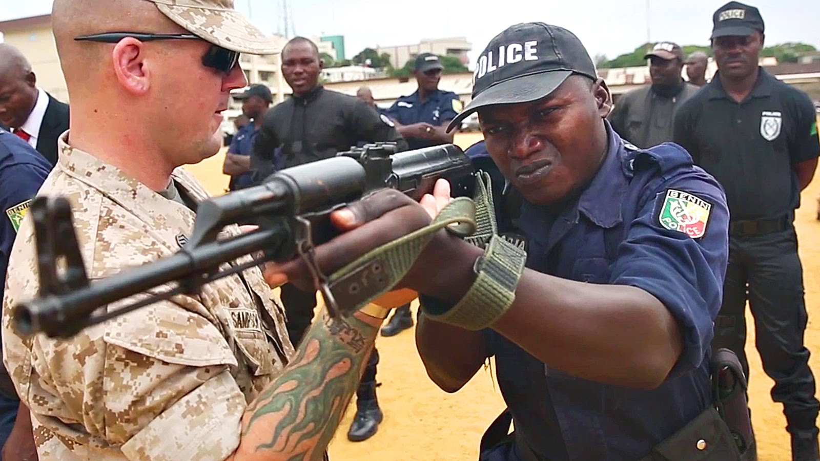 US Marines Teach Tactics To Benin Police In Africa