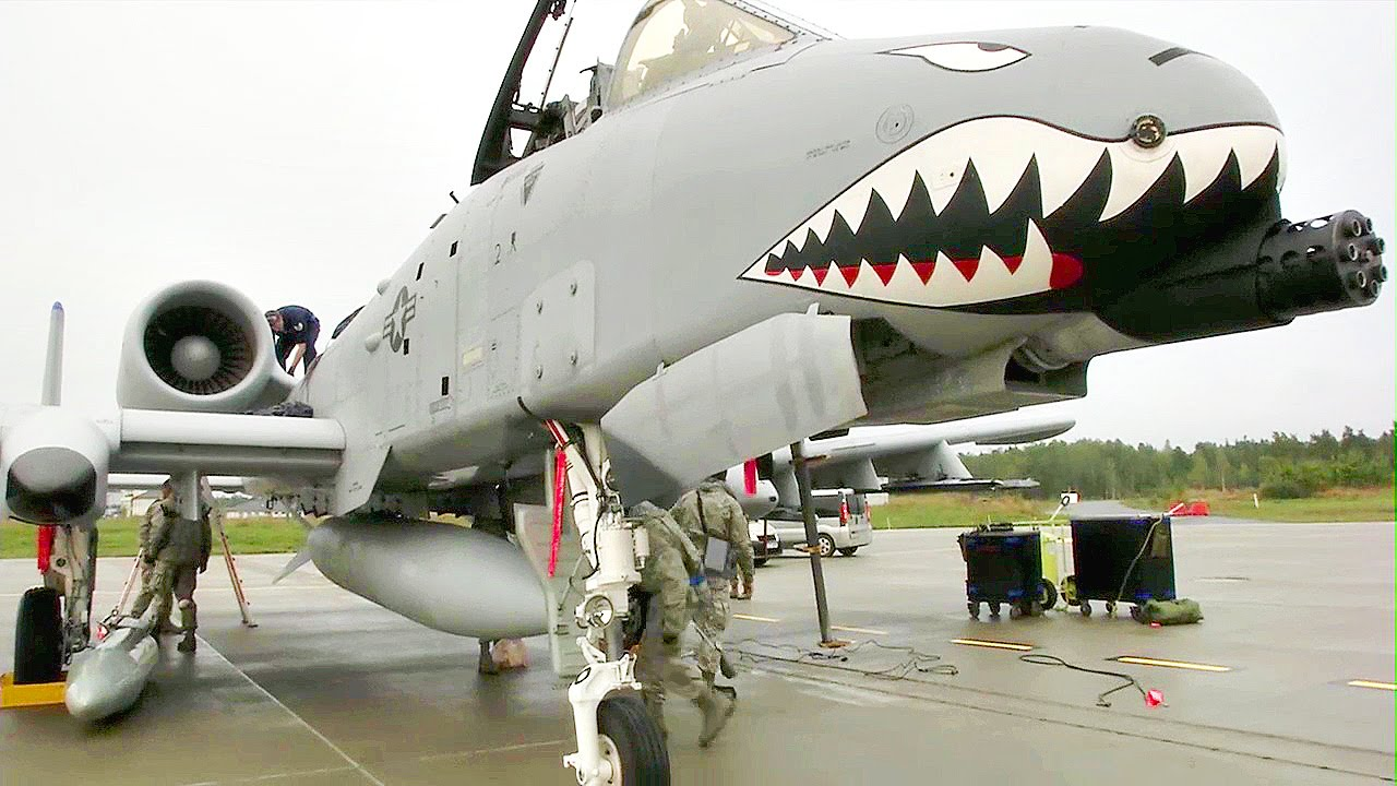 USAF A-10C Thunderbolt II Attack Aircraft Land In Eastern Europe