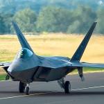 USAF F-22 Raptors Takeoff From Germany