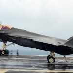 F-35C Carrier Landing in Hurricane Weather