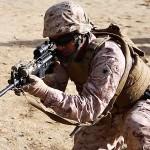 U.S. Marines Training At The Shooting Range