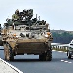 United States Army Strykers Drive Through Hungary