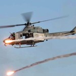 USMC Helicopters vs Desert Town – Offensive Air Support Exercise