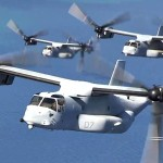 Magnificent MV-22 Ospreys Fly In Formation Over Lake Tahoe