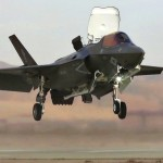 Marines F-35B Vertical Landing/Takeoff from a Temporary Airfield (FARP)