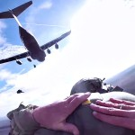 Paratroopers Jump From C-17 Globemaster III Planes