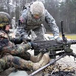 U.S. & German Soldiers Working Together – Weapons Familiarization Range