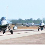 USAF Jets Launch in Theater-level Exercise Checkered Flag 16-1