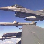 F-16 Fighting Falcons Inflight, Aerial Refuel, Landing