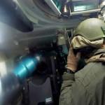 M1 Tanks Send Rounds Down Range – Interior View