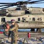 US Marines CH-53E Sea Stallions Refuel at Værnes Air Station, Norway