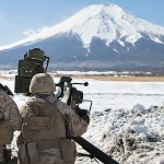US Marines Live-fire Exercises at the Foot of Mount Fuji, Japan