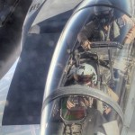 KC-135 Air Refuels F-15 Strike Eagles Over Iraq