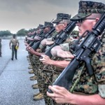 Marine Recruits 24 Days Into Basic Training – Initial Drill Evaluation