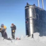 Navy Nuclear Submarine Breaking Through Arctic Ice