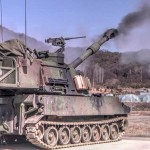 Paladin 155mm Self-propelled Howitzer Gunnery Live Fire in S. Korea