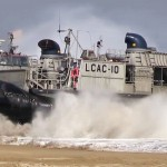 U.S. Navy Hovercraft – 'LCAC' Lands on Korean Beach
