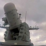 Navy CIWS Gun System Locks Onto Incoming Aircraft