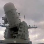 Navy CIWS Gun System Locks Onto Incoming Aircraft