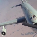 U.S. Air Force KC-135 Air Refuels F-16s and E-3