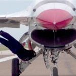 USAF Thunderbirds F-16 On The Flight Line – EOR Pre-flight Checks