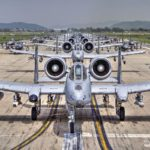 "A-10 and F-16 Aircraft ""Elephant Walk"" at Osan Air Base, South Korea"